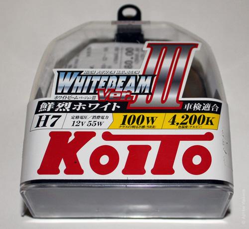 Лампа ближнего света H7 Koito Whitebeam-III H7