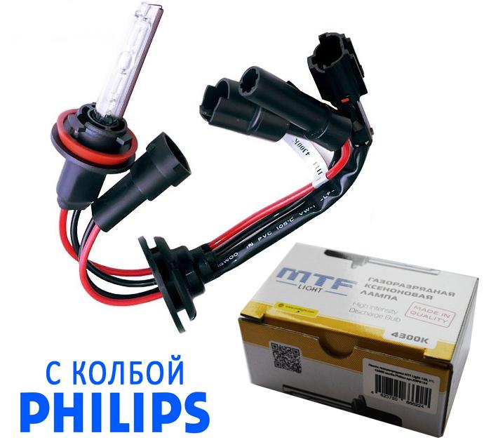 Светодиодная лампа MTF-LIGHT с колбой PHILIPS H7