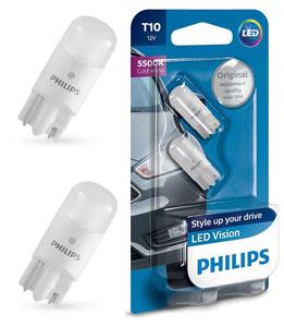 Дневные ходовые огни (ДХО) Philips w5w VisionPlus