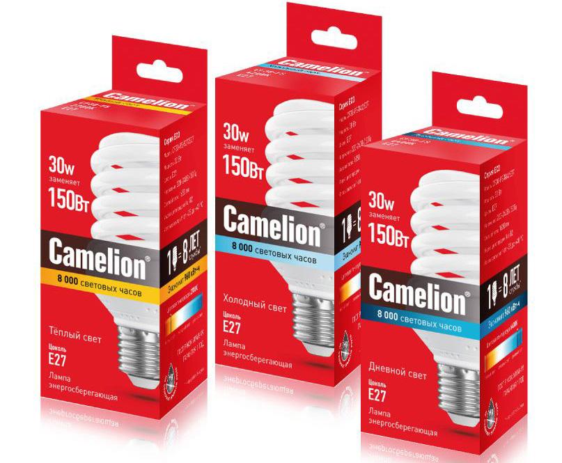 Энергосберегающая лампа Camelion - CF30-FS-827-E27