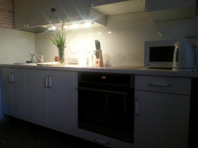Галогенная подсветка для кухни под шкафы