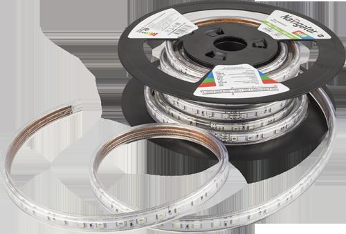 Лента LED дневного света (6000К), DC 220В 7Вт/м 120