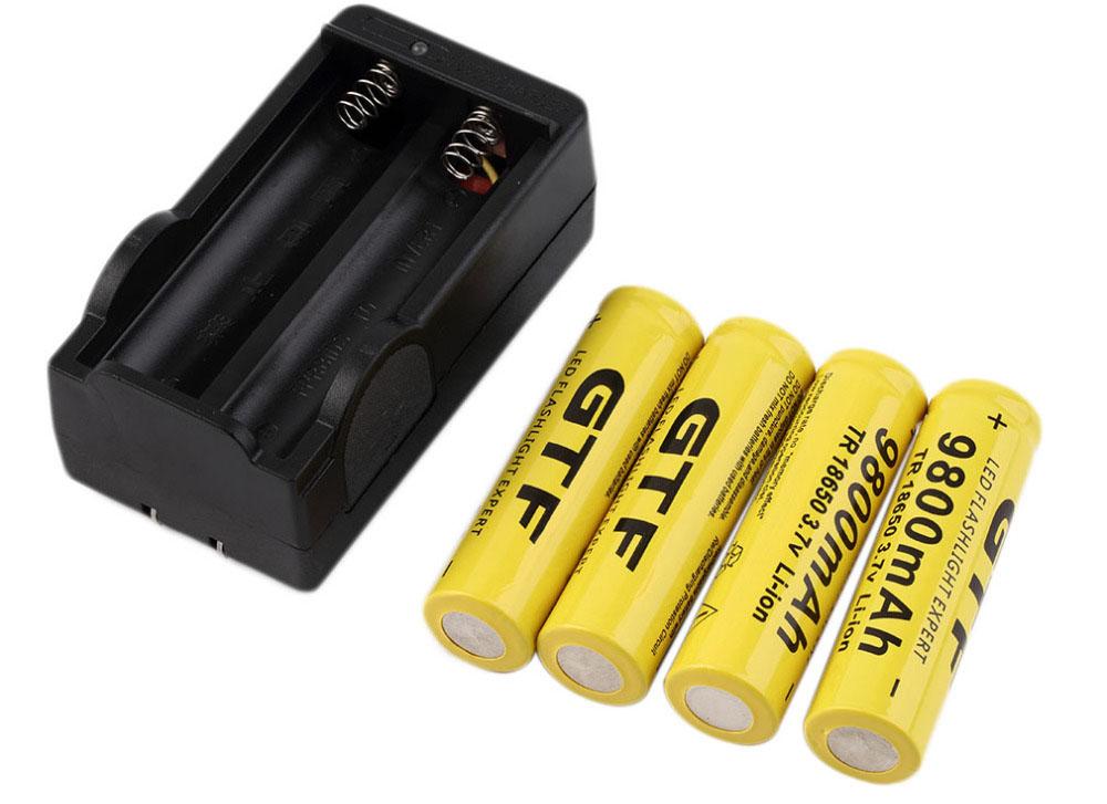 Литий-ионные аккумуляторные батареи 9800 мАч 3.7 В с зарядным устройством