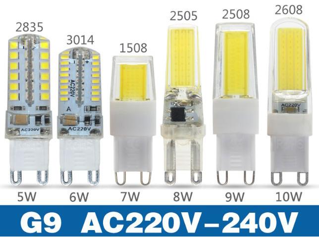 Мини G9 Светодиодные Лампы 5 Вт, 6 Вт, 7 Вт, 8 Вт, 9 Вт, 10 Вт