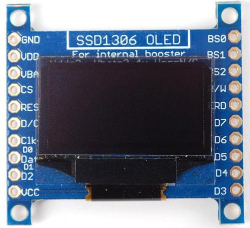 Монохромные OLED дисплеи с разрешением 128x64 пикселей
