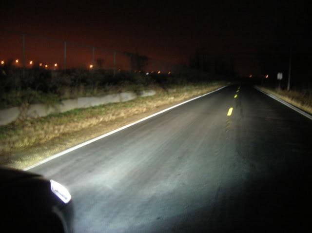 Свечение лампы H1