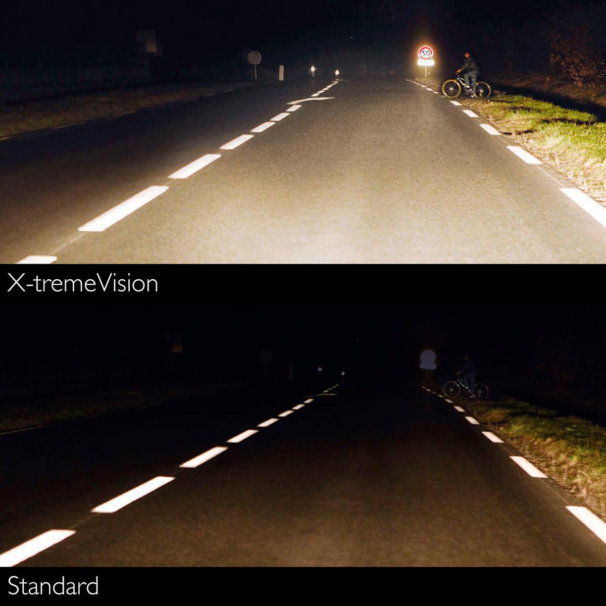 Пример освещения дороги