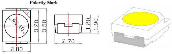 Светодиод 3528 SMD