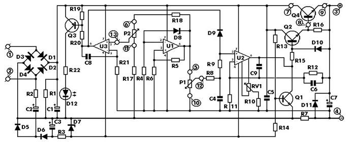 Схема расположения составляющих цепи