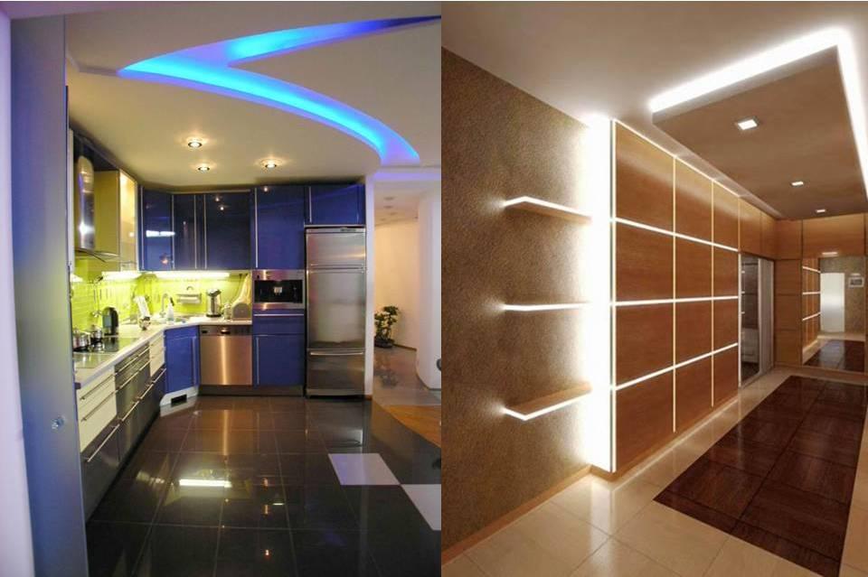 Способы применения алюминиевого профиля для светодиодной ленты