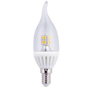 Светодиодная лампа Ecola candle LED 4,0W 220V E14 2700K 320° прозрачная свеча