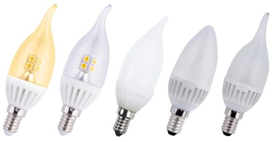 Светодиодные лампы с цоколем е14