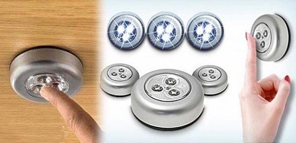 Светодиодные светильники на батарейках