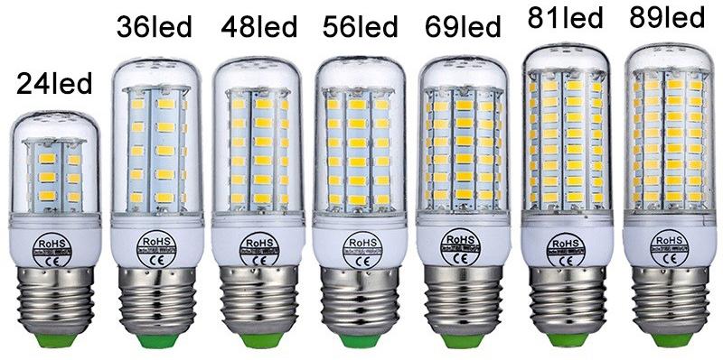 LED-лампы для стандартного цоколя и работе от электросети 220 В