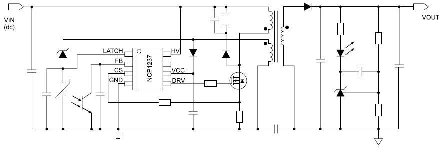 Типовая схема включения ШИМ-контроллера