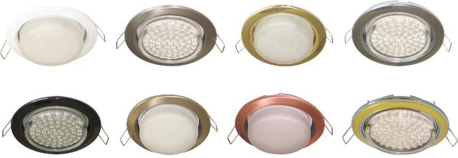 Тонкие встраиваемые светильники для потолков