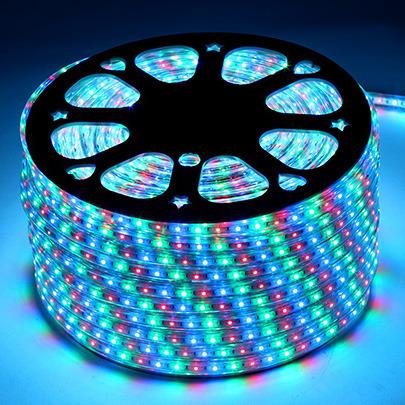 Трехцветная светодиодная лента RGB 220V