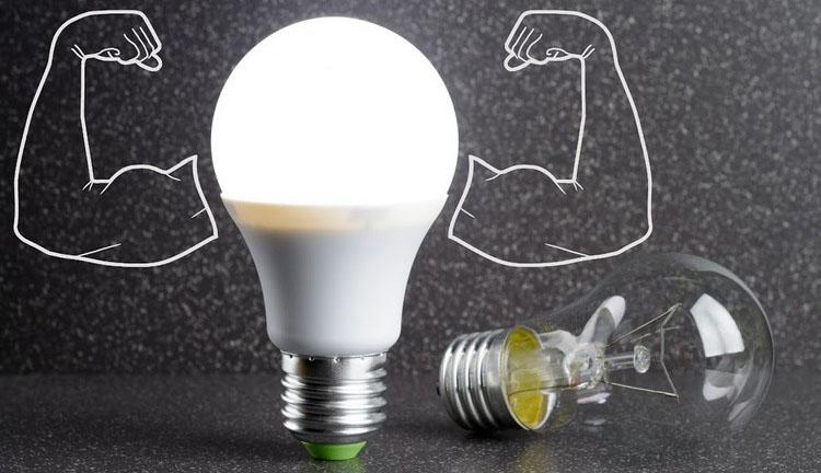 Соответствие мощности светодиодных ламп лампам накаливания