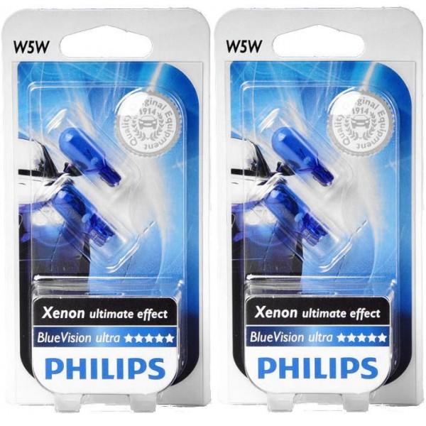 Дневные ходовые огни (ДХО) Philips w5w BlueVisionUltra