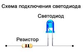 Расчёт резистора для светодиода