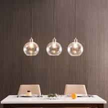 Лампа шар на кухне