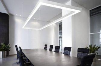 офисные подвесные светильники на тросах