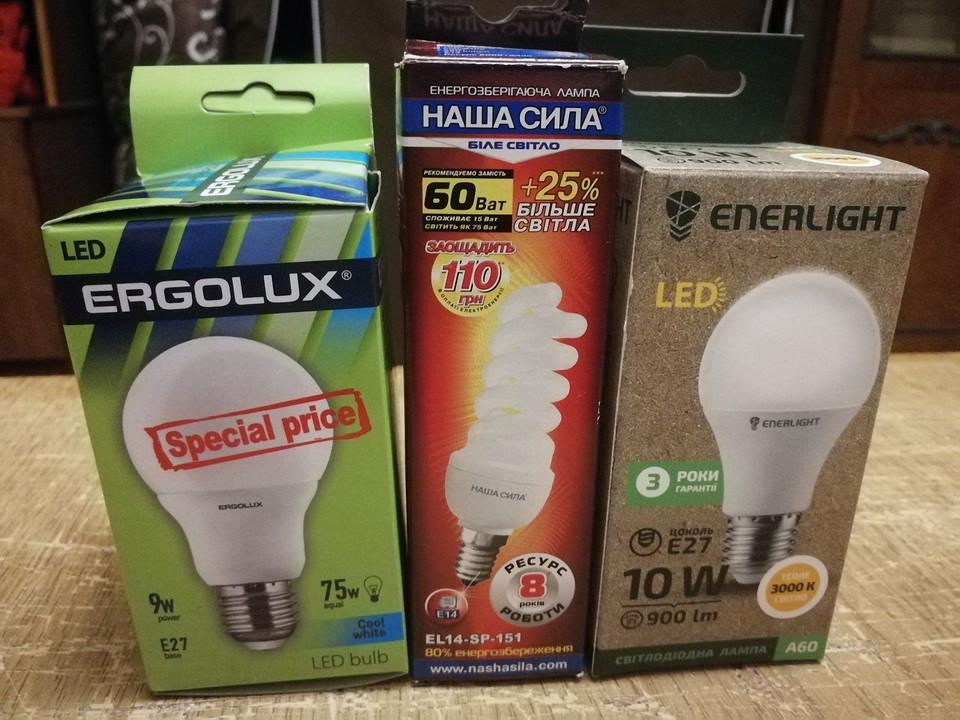 разные лампочки